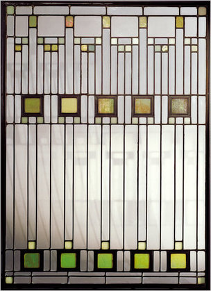 Frank Lloyd Wright stained glass panel